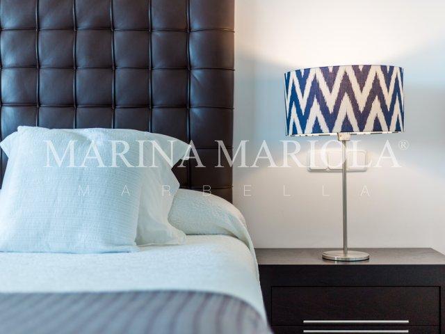 Marina Mariola Marbella, Apartamento 3 dormitorios en fachada Sur, vista directa al mar.