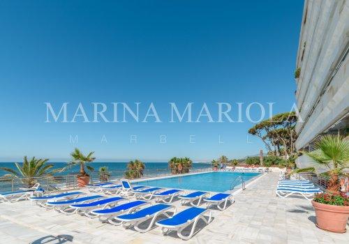 Marina Mariola Marbella, Apartamento 2 dormitorios en fachada Este, vista Jardin.