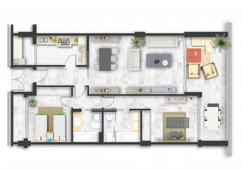Apartamento Standard 2 Dormitorios